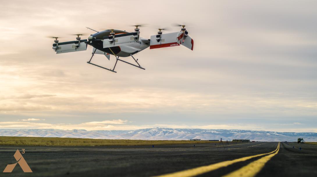 Droni per trasporto persone: decolla Vahana il taxi volante di Airbus