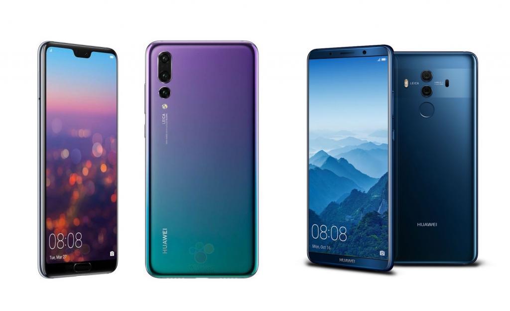 Huawei P20 VS Huawei Mate 10