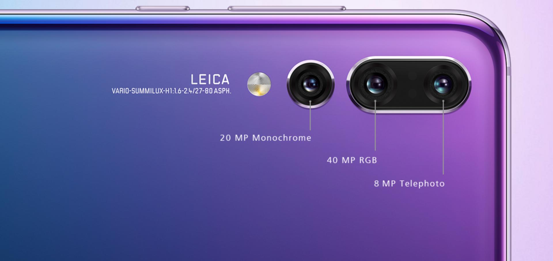 Il P20 Pro di Huawei : tripla fotocamera e risoluzione da 40 MP