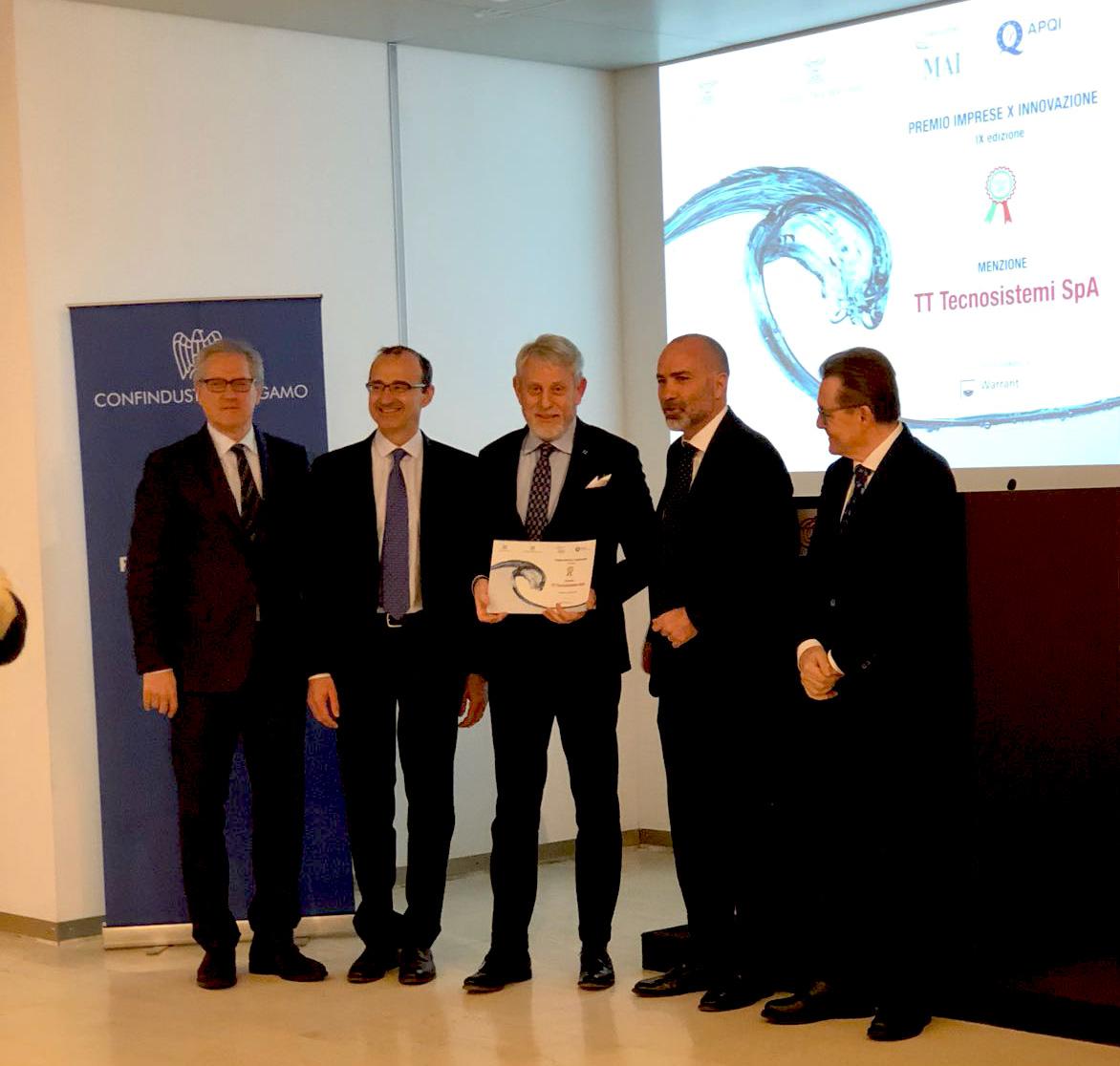 Premio Imprese X Innovazione, TT Tecnosistemi tra le top 12 aziende italiane