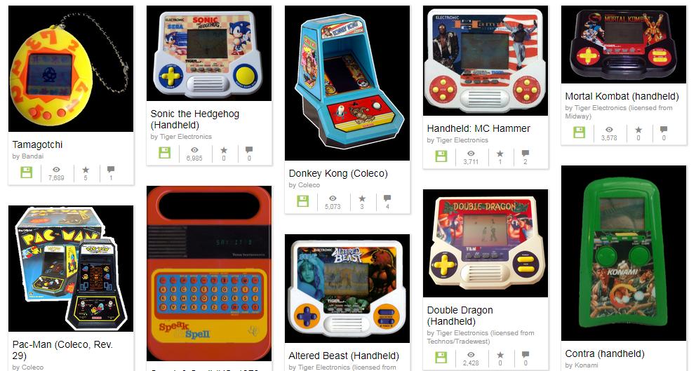 Internet Archive riporta alla luce i giochi elettronici anni '80 portatili