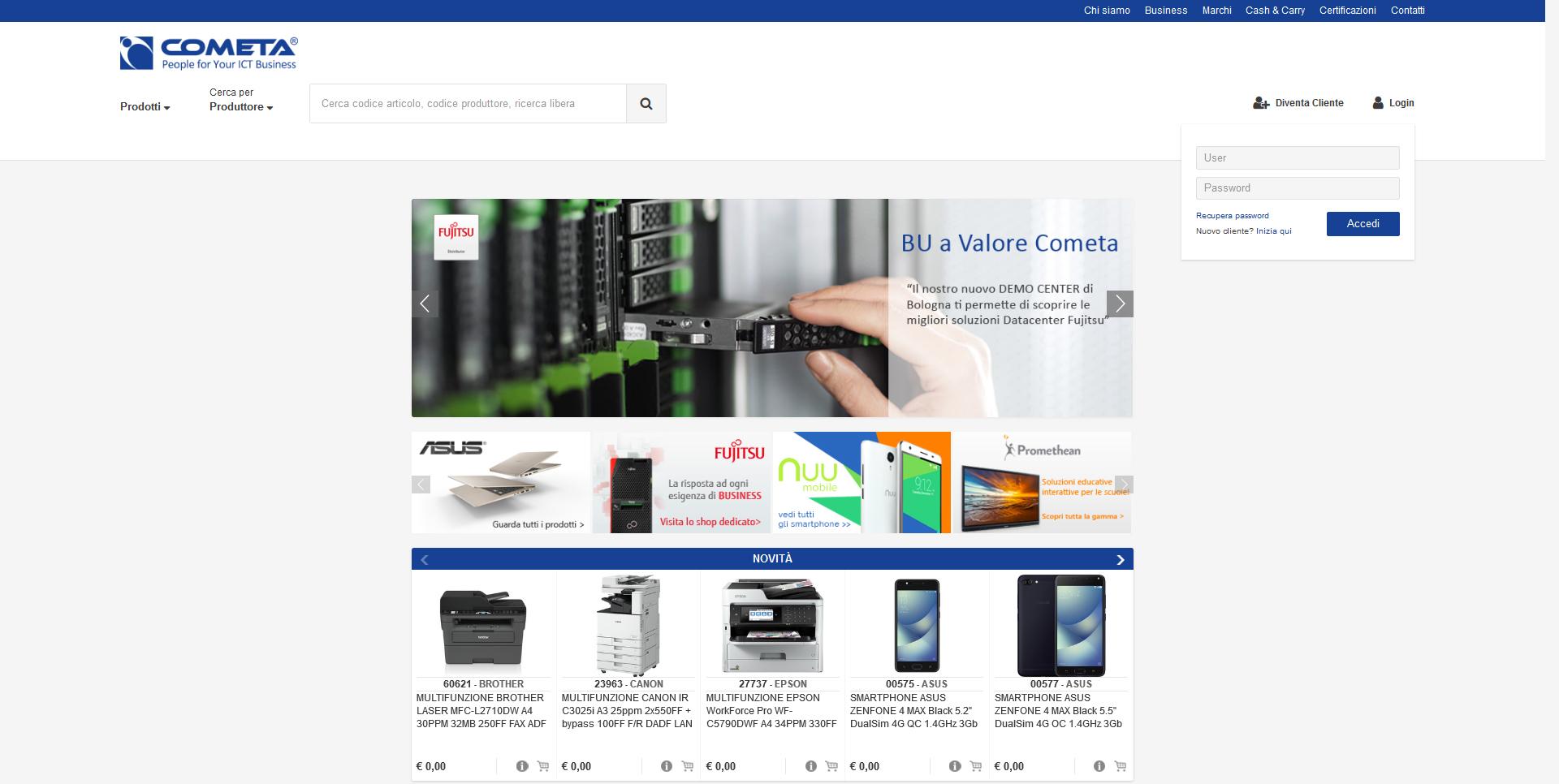 È online il nuovo sito e-commerce di Cometa