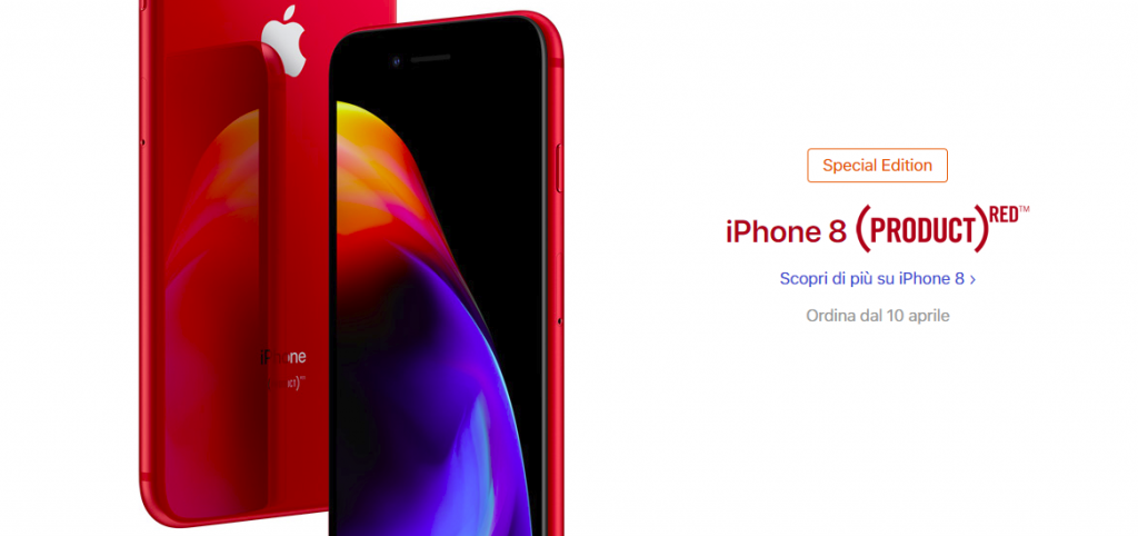 iphone8 productred