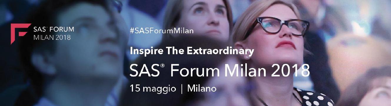 SAS Forum Milan 2018: Inspire The Extraordinary
