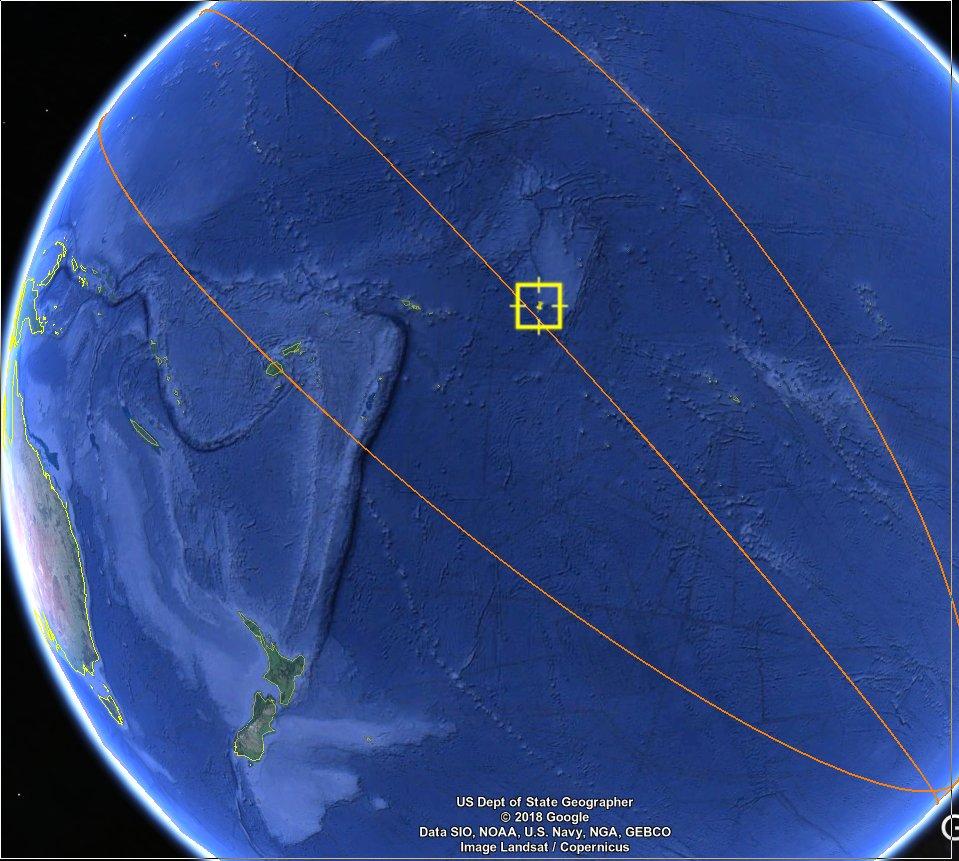 stazione spaziale cinese caduta sul Pacifico