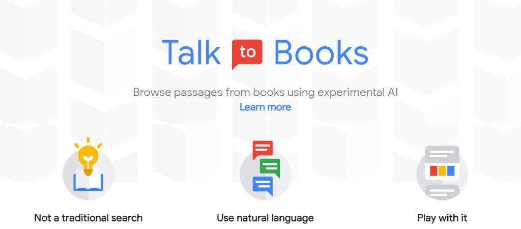 talk to books google