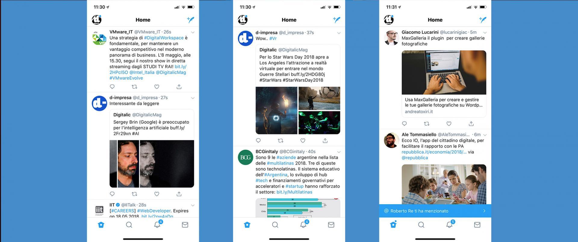 Twitter: nuova timeline che raggruppa i tweet sulla stessa notizia
