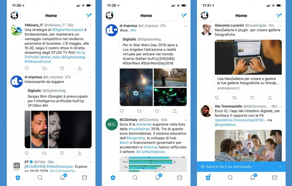 twitter nuova timeline news link