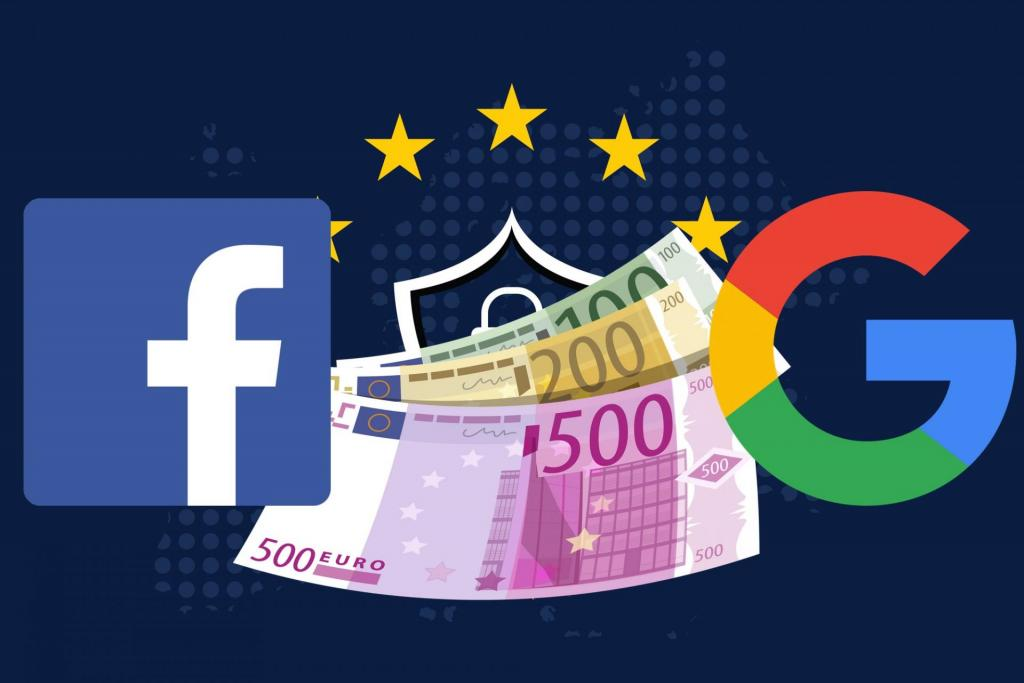 GDPR rischio multa Google e Facebook