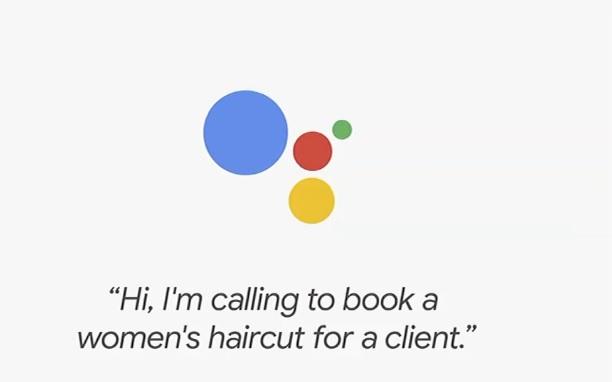 Google Assistant Google Duplex parrucchiere