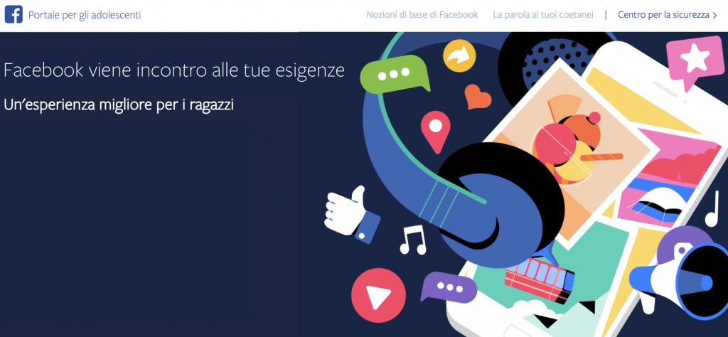 facebook portale adolescenti