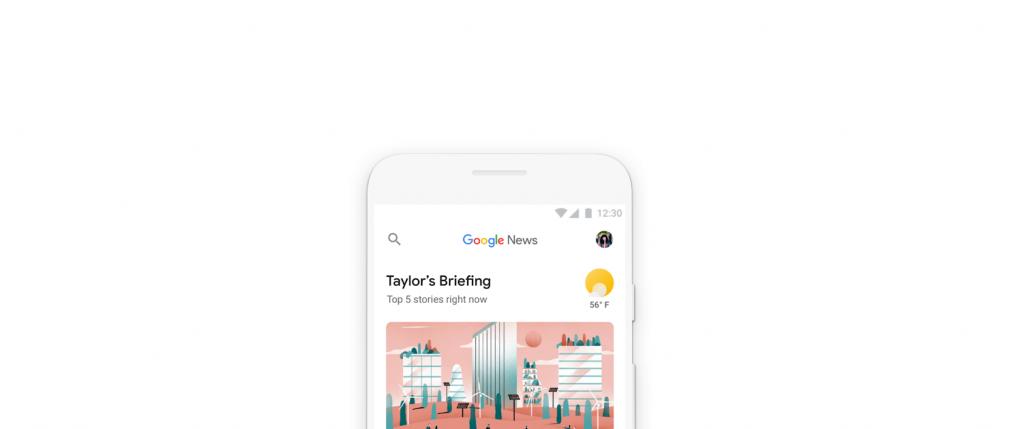 Google News nuova versione