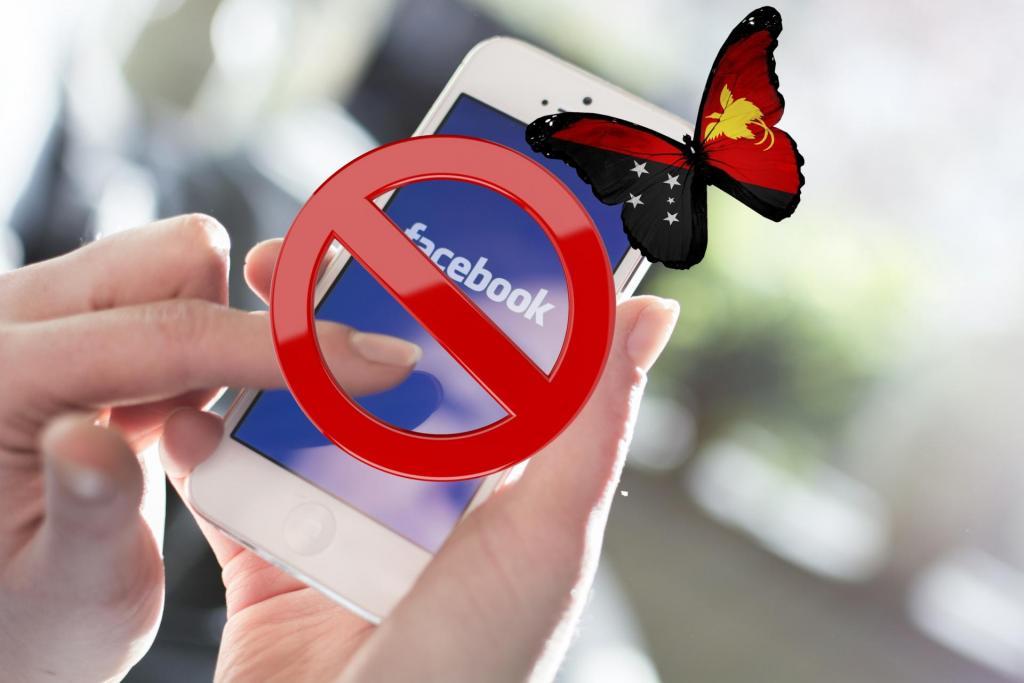 facebook bloccato per un mese Papua nuova Guinea