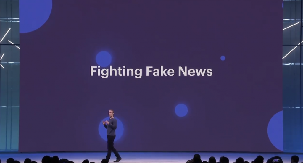 Facebook F8: Zuckerberg contro le fake news