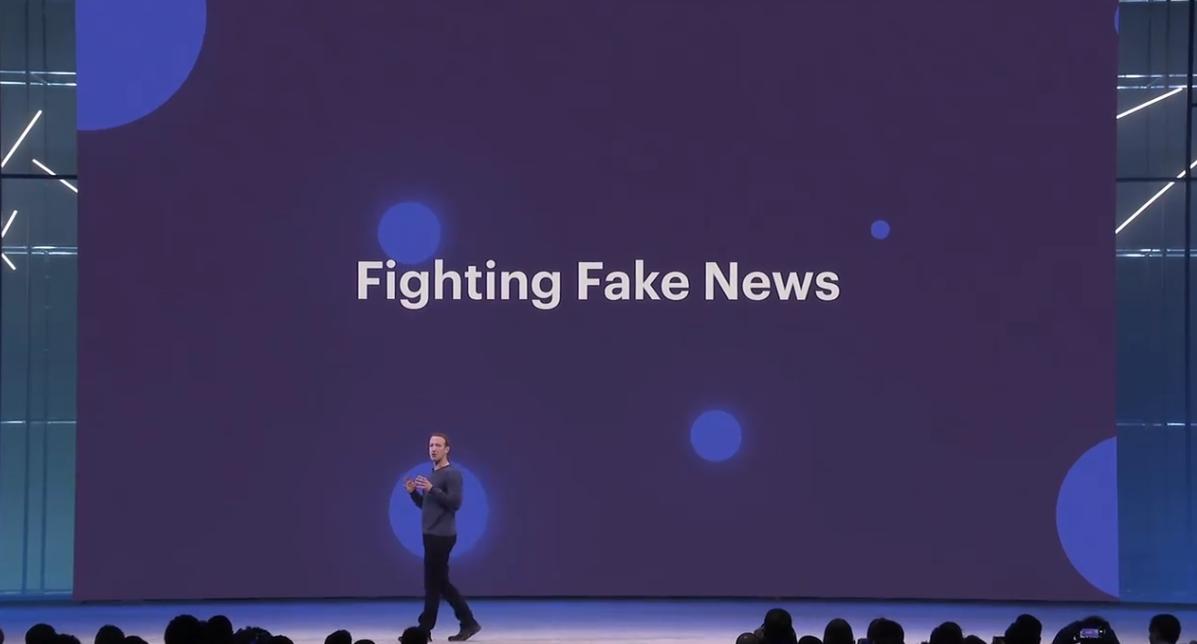 Facebook F8: Zuckerberg contro le fake news