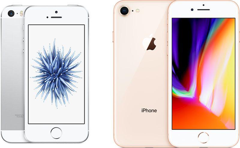 iPhone SE e iPhone 8