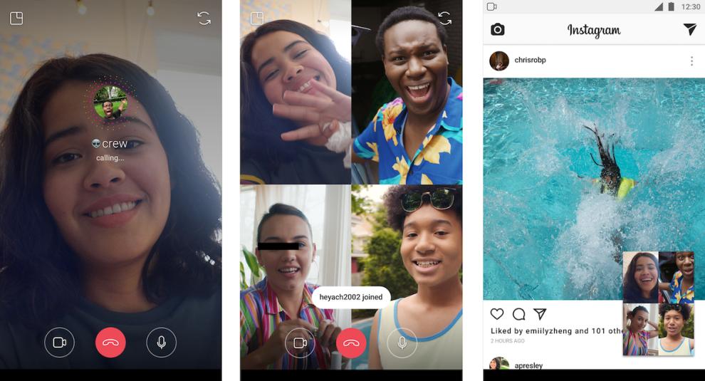 instagram videochiamate di gruppo