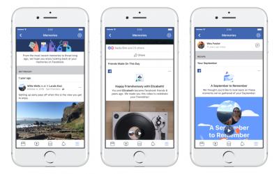 Facebook Memories , arriva un nuovo strumento per i ricordi