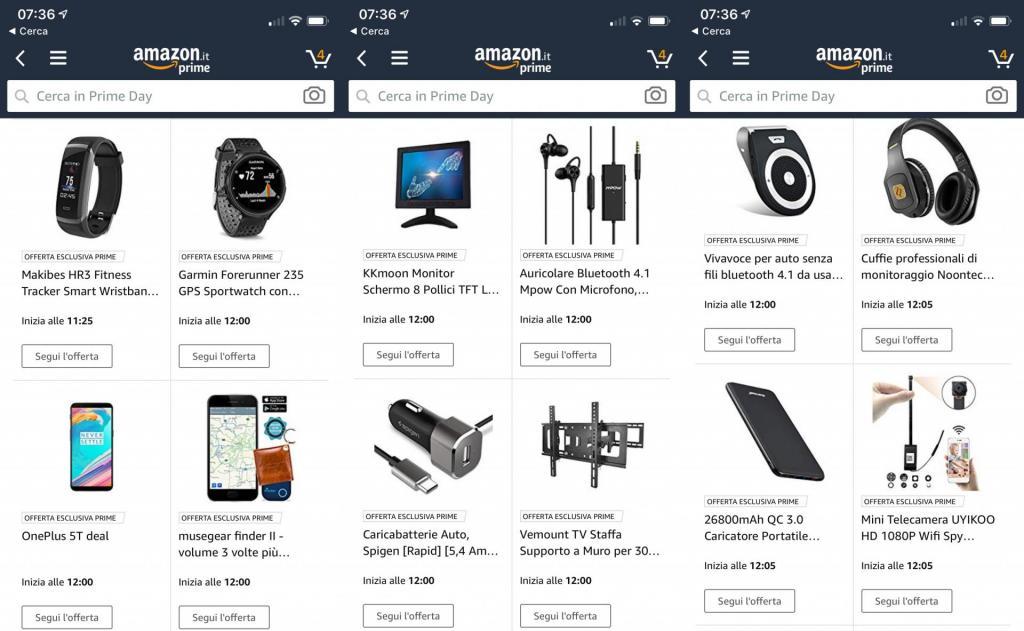 Amazon Prime Day offerte migliori tecnologia