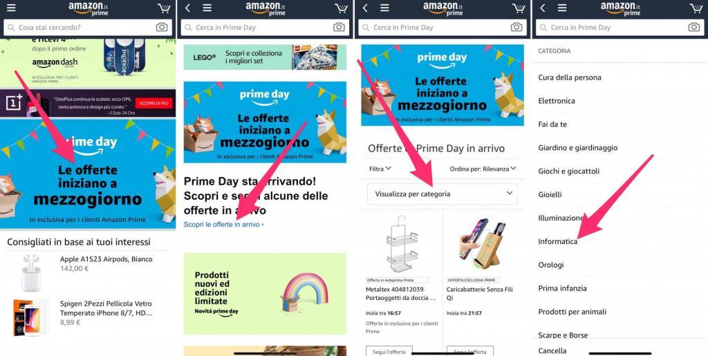 Amazon Prime Day migliori offerte Tecnologia