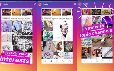 Instagram Esplora, cosa cambia nella scheda riprogettata per temi