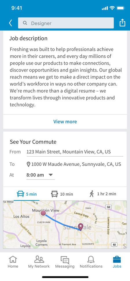 LinkedIn Your Commute