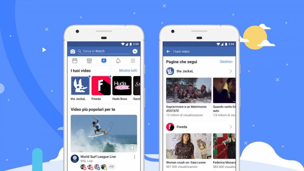 Facebook watch arriva in italia