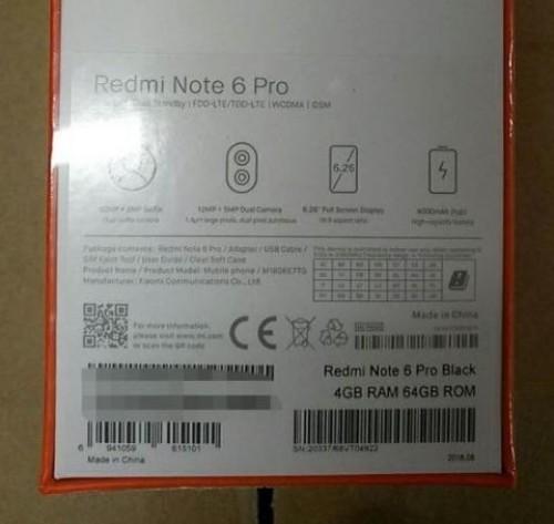 Confezione Xiaomi Redmi Note 6 Pro