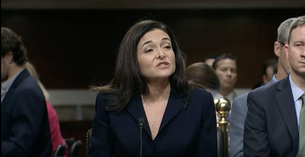Sheryl Sandberg Facebook testimonianza Congresso USA