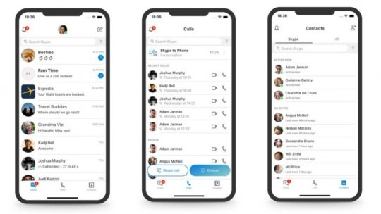 redesign skype