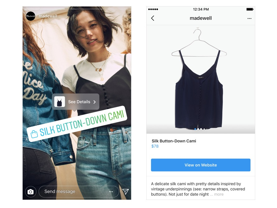 shopping instagram stories