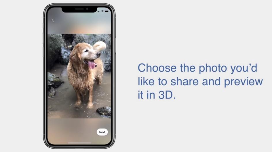 Foto 3D Facebook