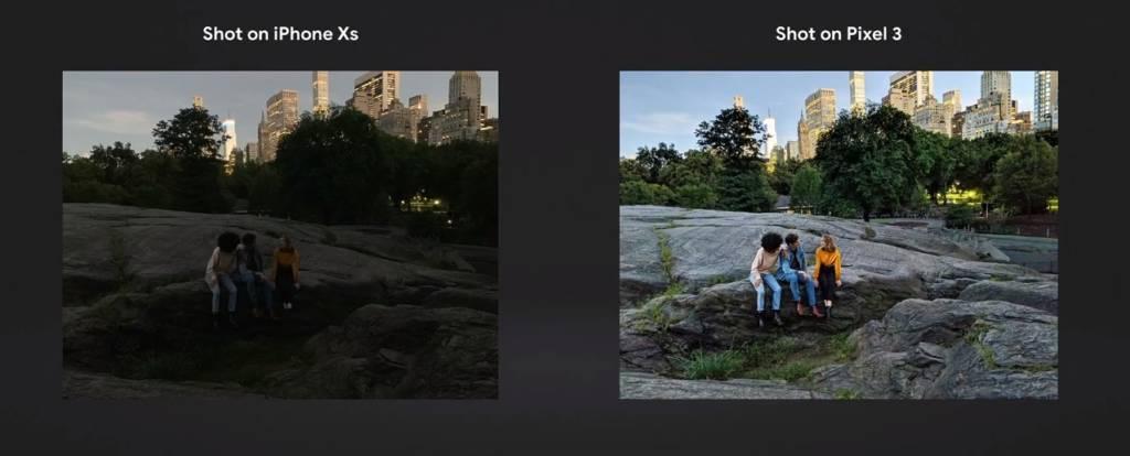 Paragone fotocamera iPhone XS e Pixel 3