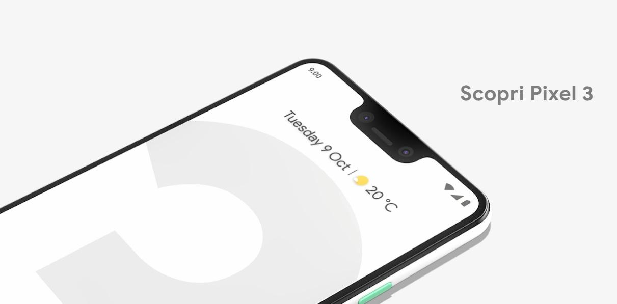 Google Pixel 3 e Pixel 3 XL: caratteristiche, prezzi e uscita in Italia