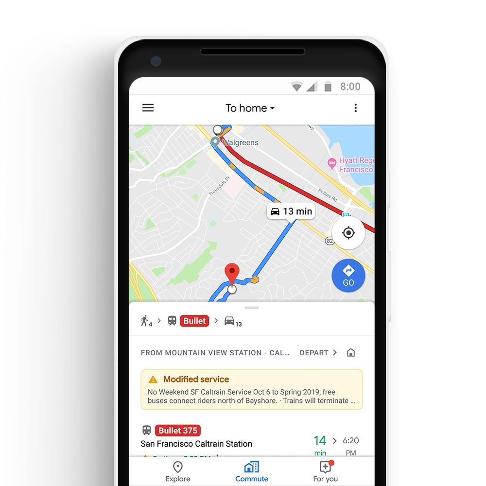 Tragitti misti Google Maps