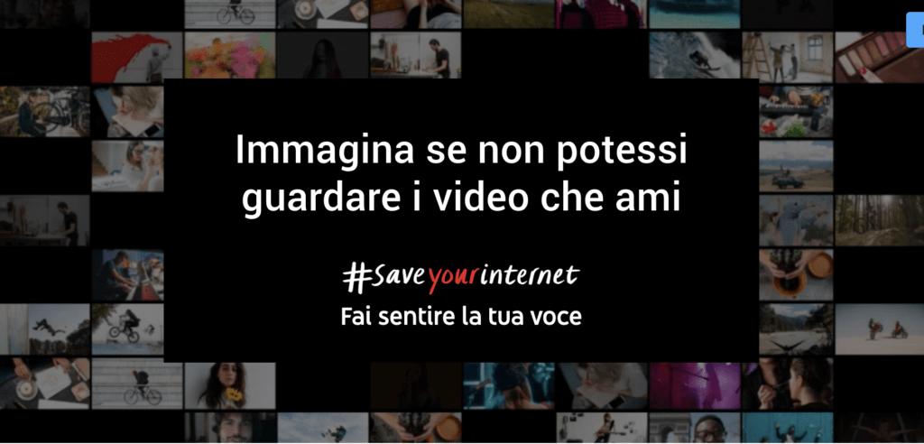Youtube SaveYourInternet Copyright EU