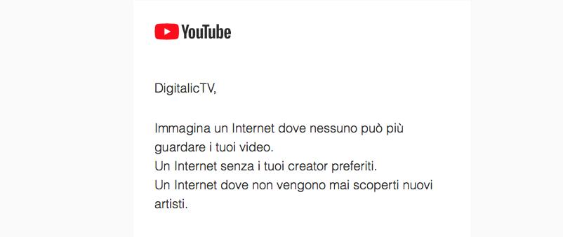 Youtube scrive a tutti i creators