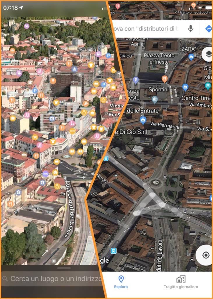 google maps vs mappe apple