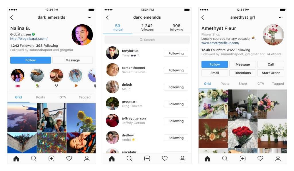 instagram nuovo profilo utenti