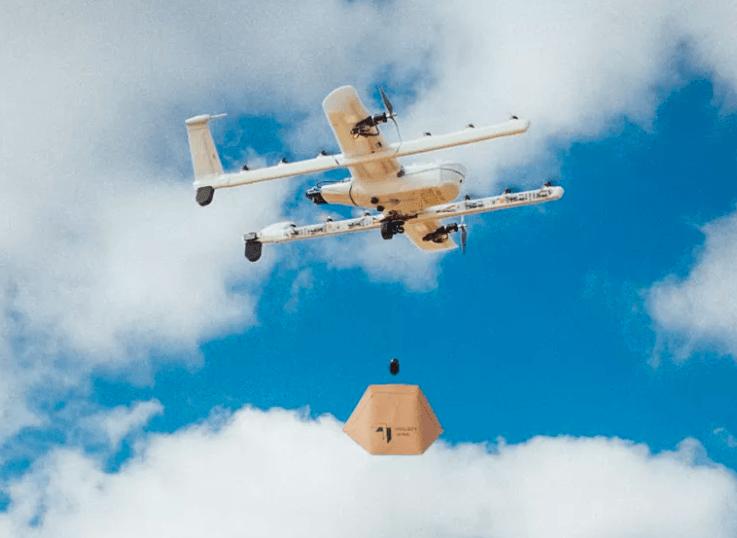Alphabet wing consegne con droni