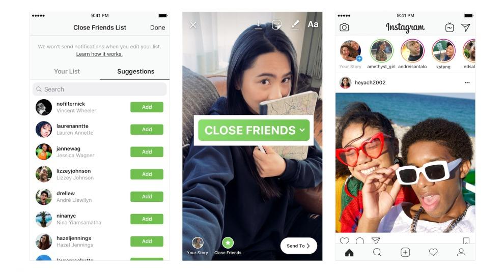 Instagram CloseFriends Amici più stretti