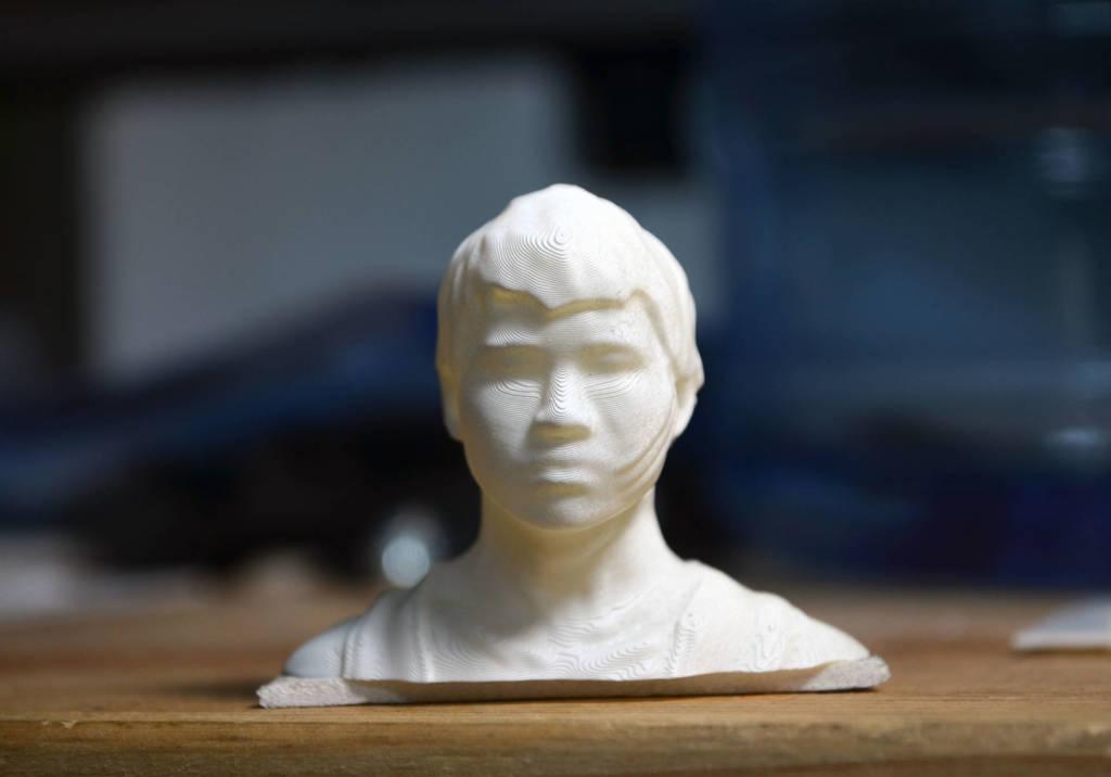 testa stampata in 3d