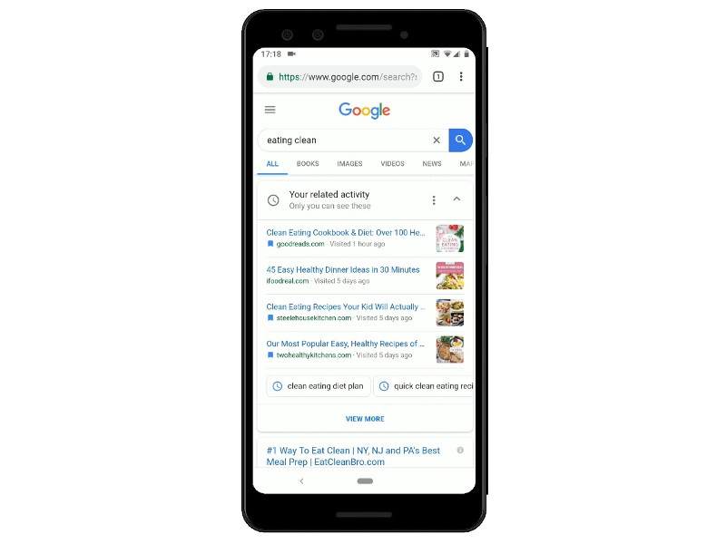 Google lancia le schede attività per riprendere le ricerche passate