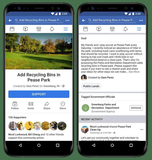 facebook petizioni