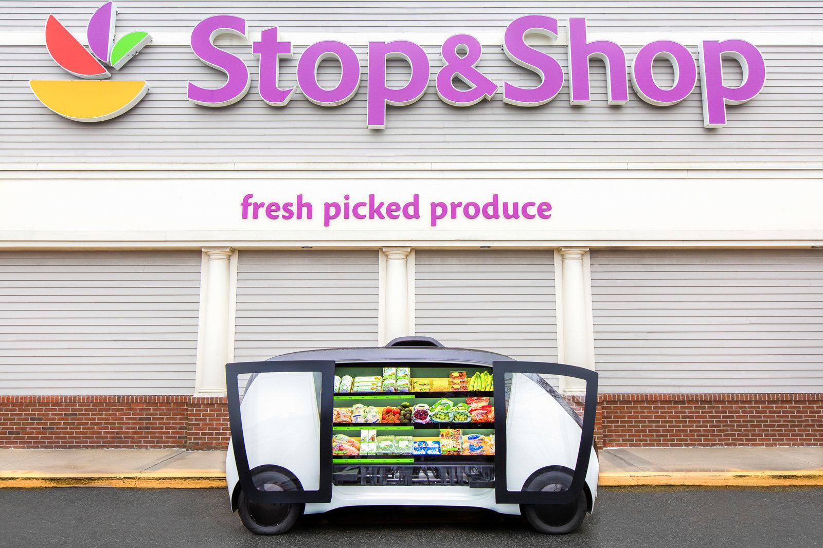 Stop&Shop, le auto a guida autonoma portano il negozio in tutta Boston