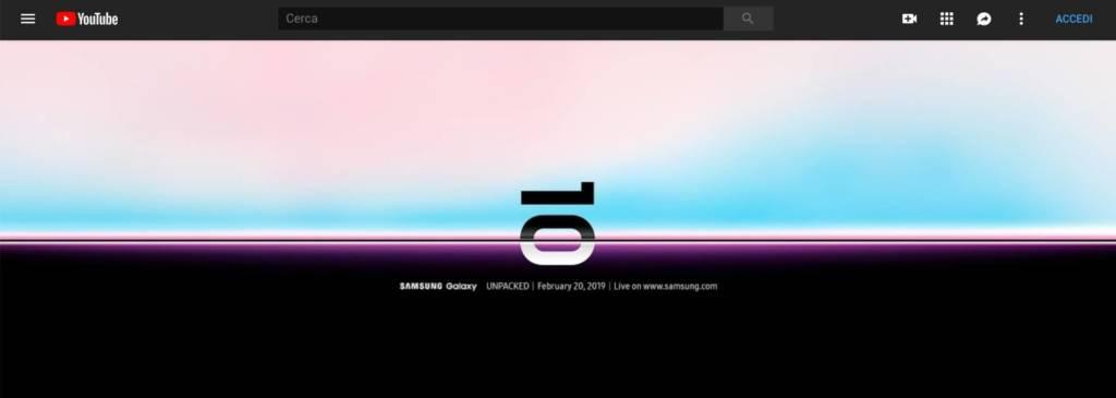 Galaxy Unpacked live streaming: come seguire la diretta su Galaxy S10 e Galaxy Fold