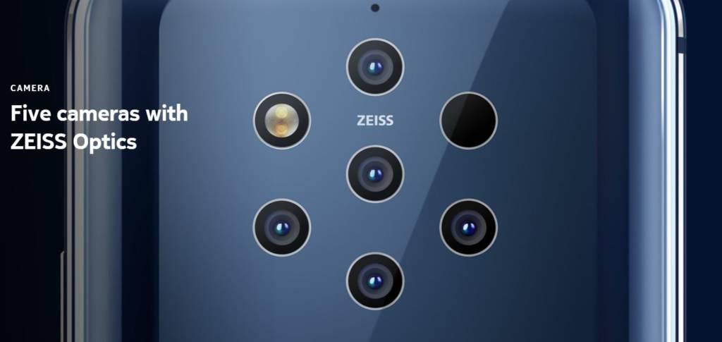 Nokia 9 Pureview 5 fotocamere