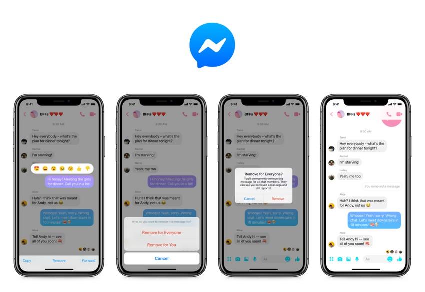 Rimuovere messaggio su Messenger