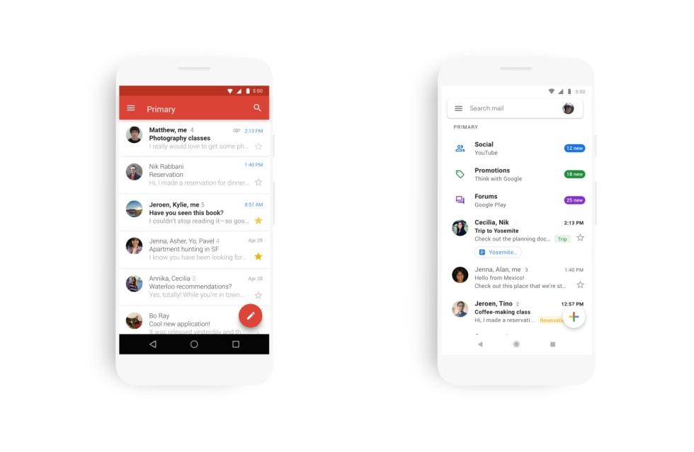 Gmail Design nuovo
