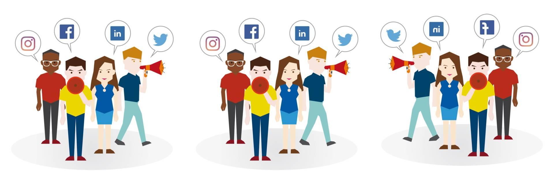 Il carattere di chi frequenta i social: da Instagram a Twitter by Rudy Bandiera